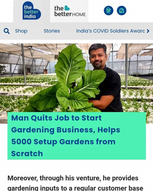 Got featured in The Better India magazine.  Told you in my previous post that mustard I was holding  had magical powers! 😂  Thanks for the support and encouragement!  Link in bio if you are interested...  . . . . . . . #inthenews  #growyourownfood #farmfresh #farmtofork  #harvest #hydroponics  #instafarm #urbanfarmer #soilless #urbanfarm  #gardenguru #chef  #agritech #agtech #horticulture #hydroponicsystem #greenhousegrown #plantaseedday #foodsecurity #iamamodernfarmer #modernfarming #growers #urbanagriculture #growingfood #realfood #cleaneating #plantbased